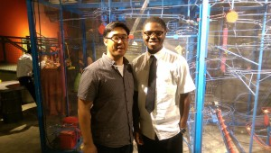 Dr. Sales and Kayin, our 2014 FI Summer Scholar, at the Franklin Institute.